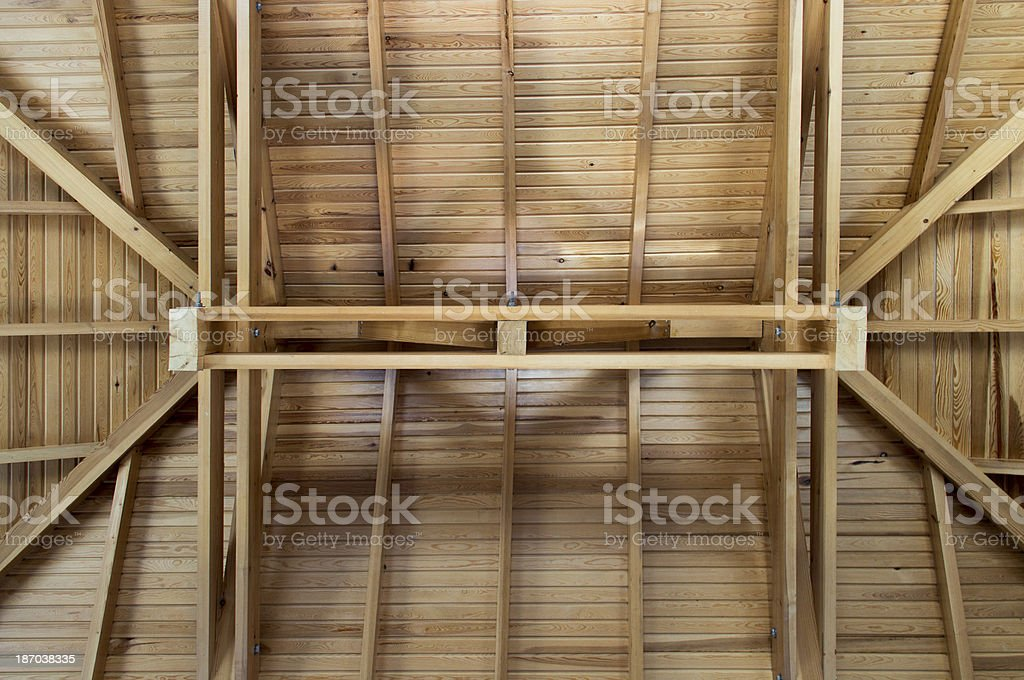 New home building in progress royalty-free stock photo