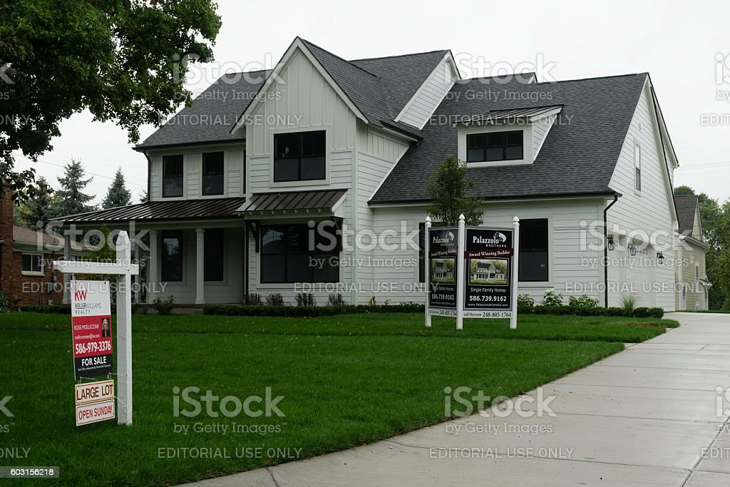 New Home Construction For Sale in Rochester, Michigan stock photo