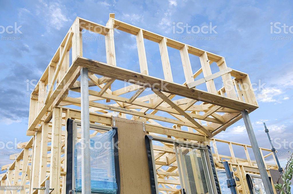 Casa De Nueva Construcción Encuadre Stock Foto e Imagen de Stock ...