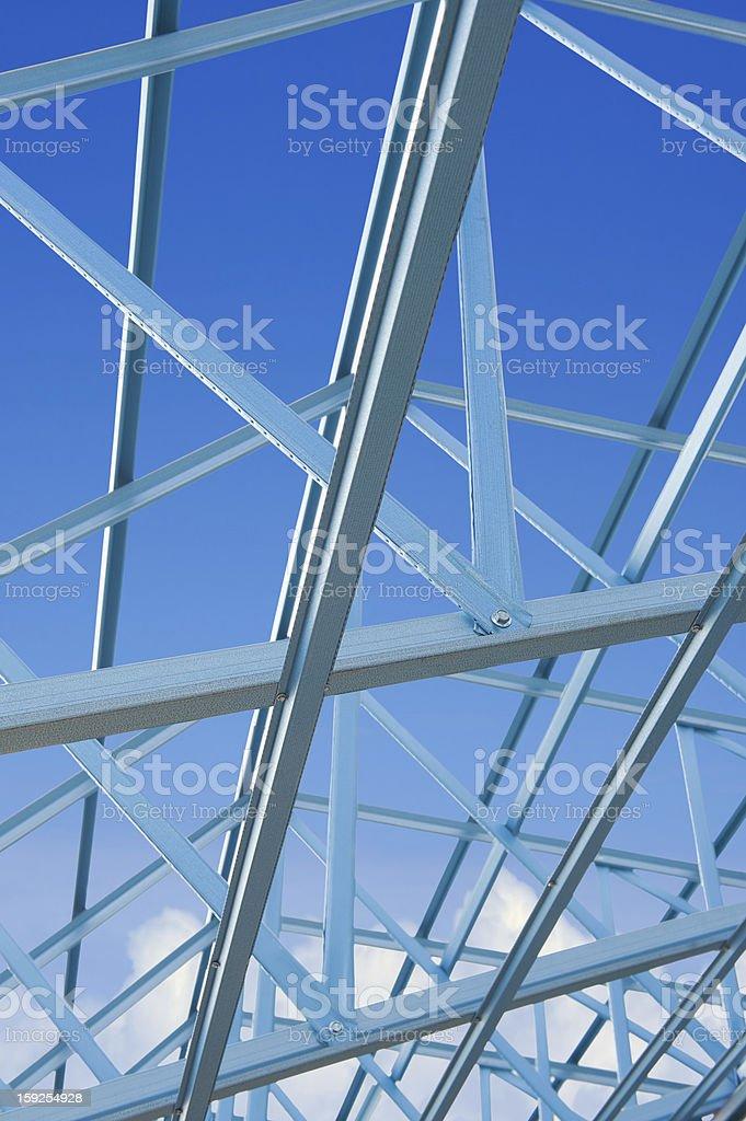 New home construction framing. royalty-free stock photo