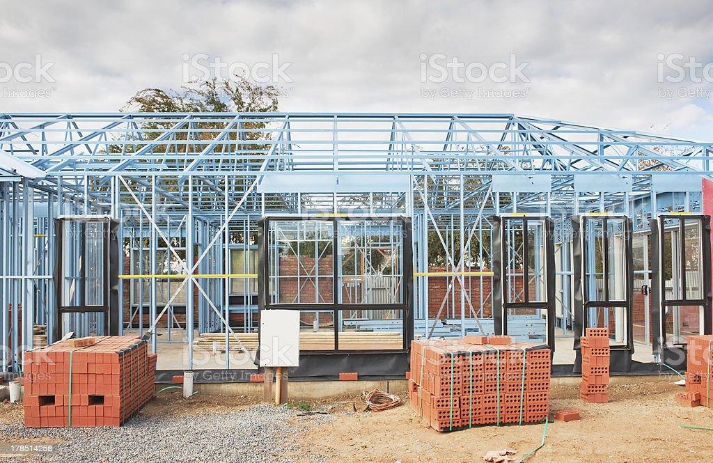 New home construction framing royalty-free stock photo
