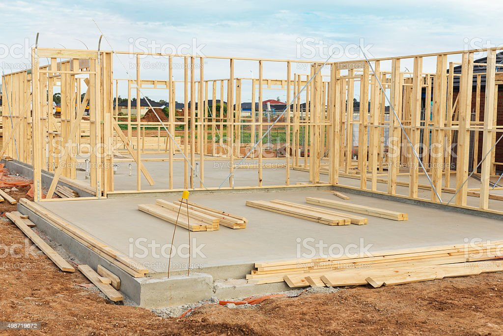 New home construction framing. stock photo