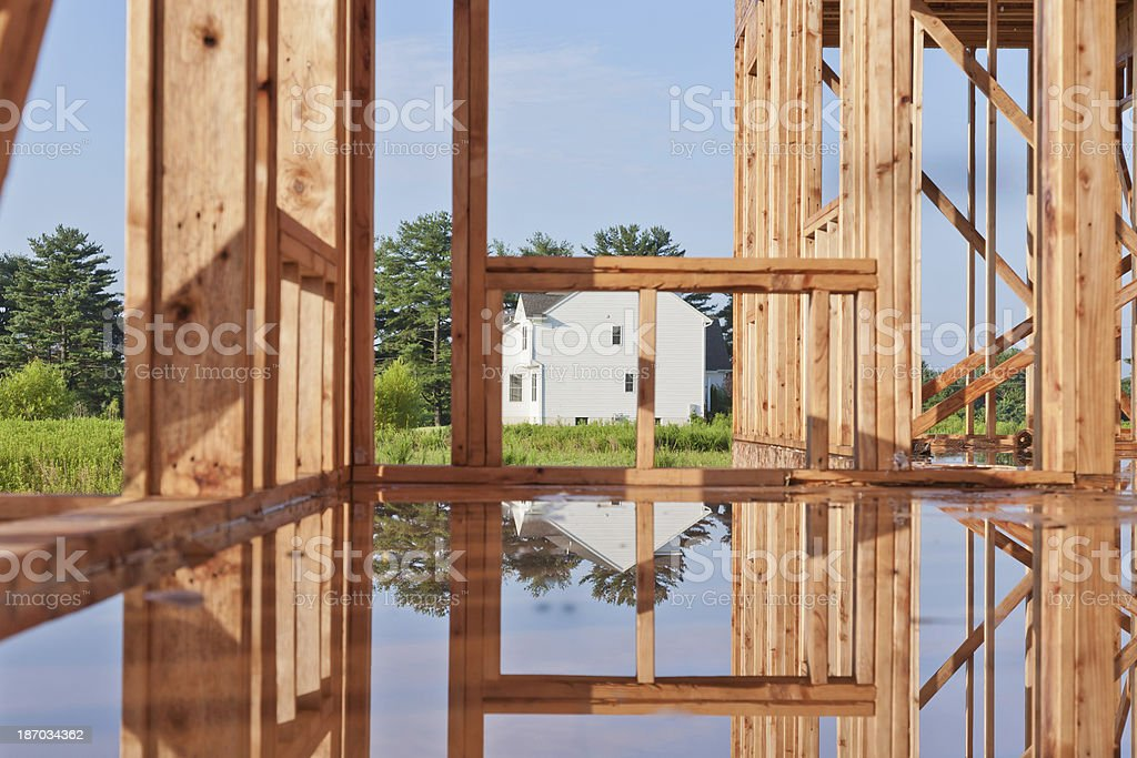 New Home Construction in Progress royalty-free stock photo