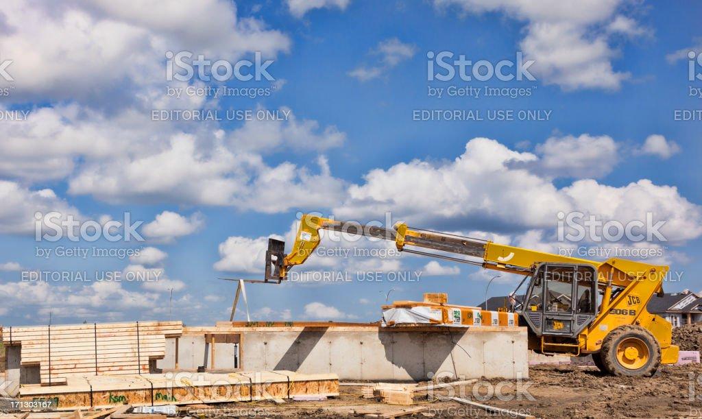 New Home Construction in Saskatoon royalty-free stock photo