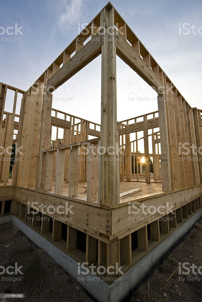 New Home Construction stock photo