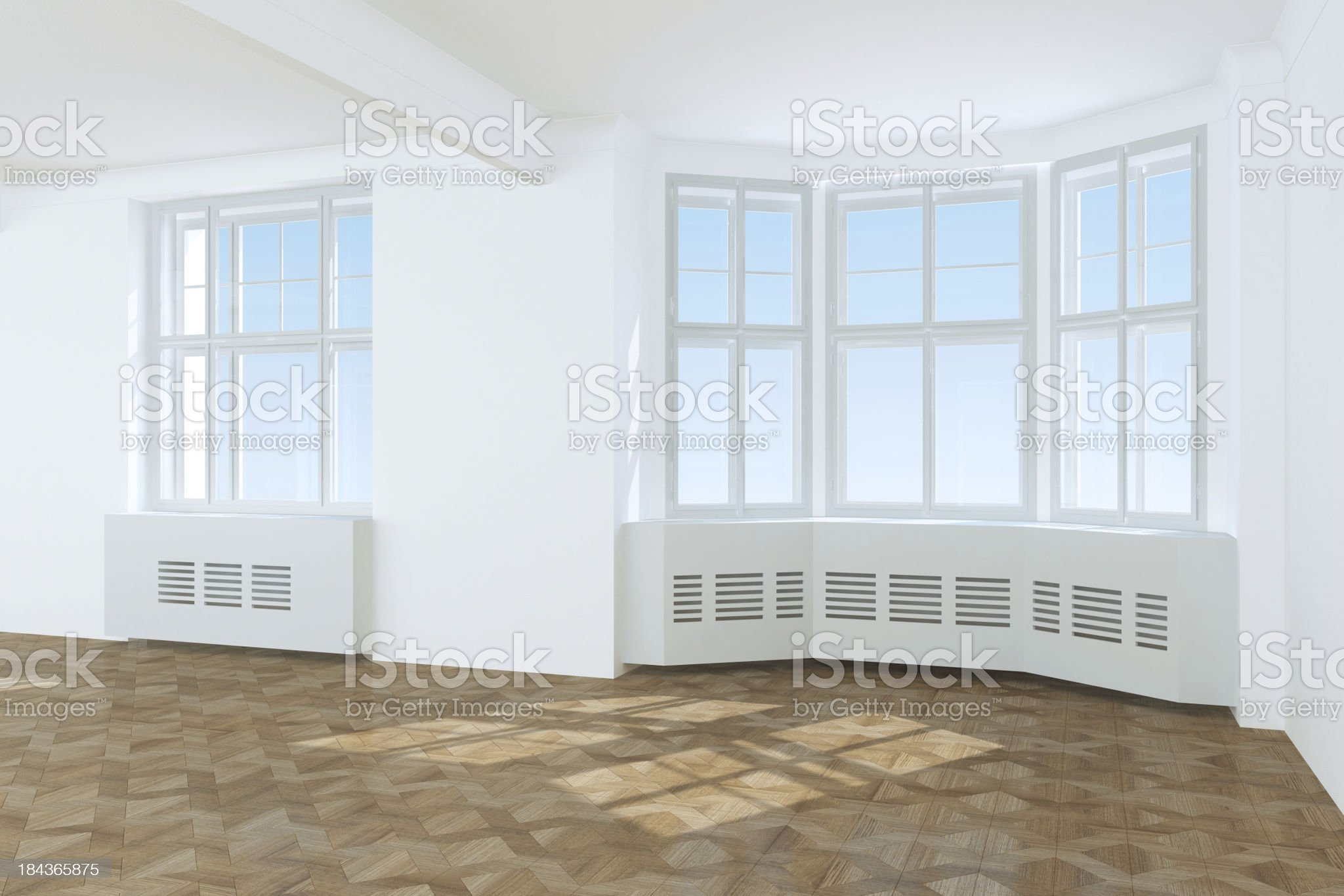 New Home empty interior royalty-free stock photo