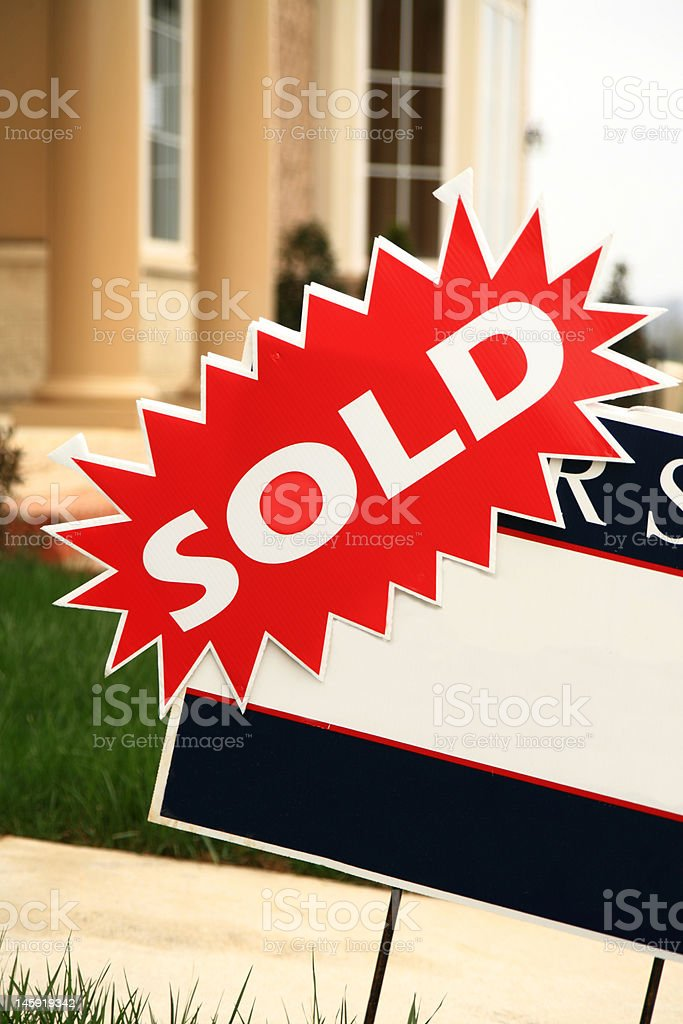 New Home For Sale royalty-free stock photo