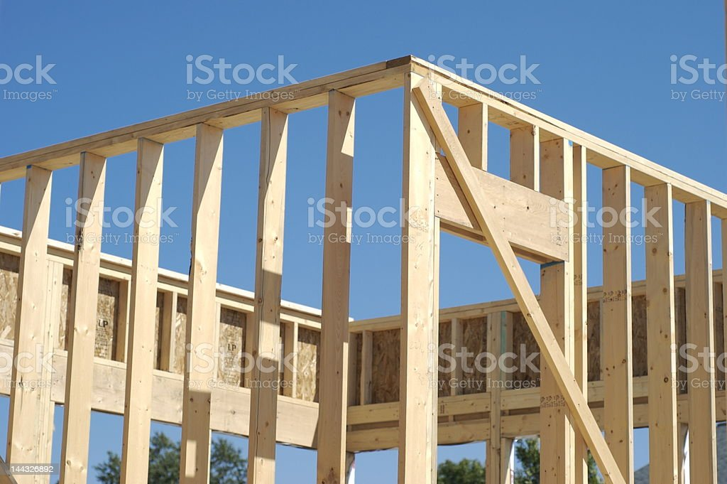 New home framing royalty-free stock photo