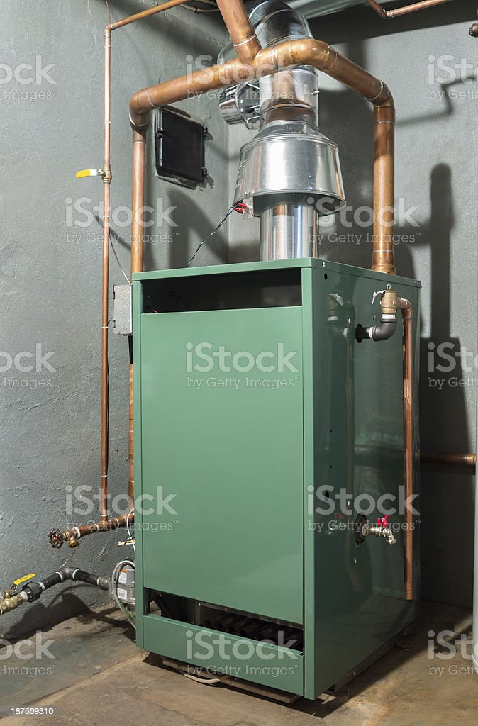 New home heating system stock photo