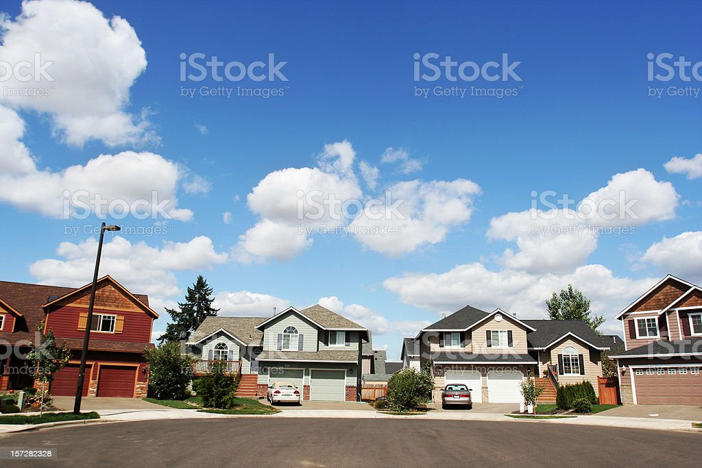 New Home in a Couldesac stock photo