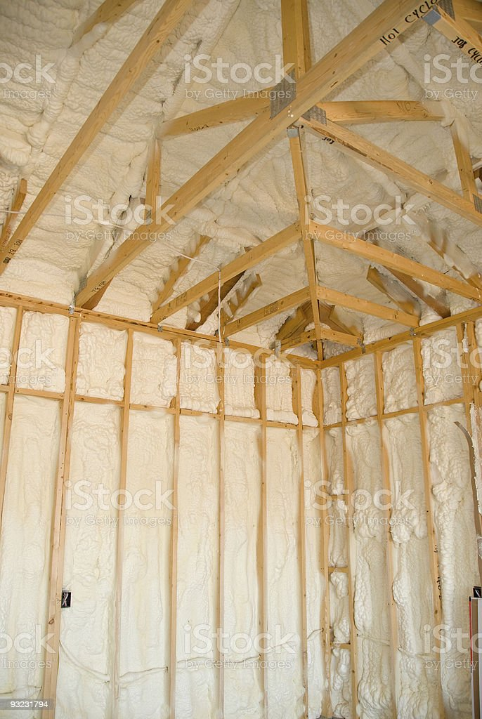 New home insulation stock photo