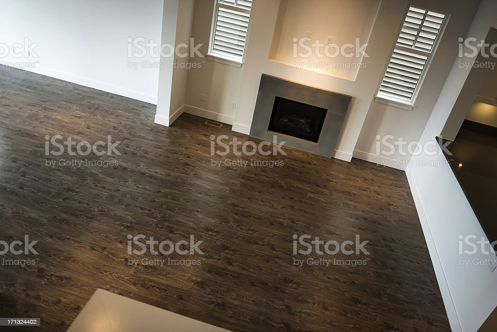 New Home Living Room stock photo