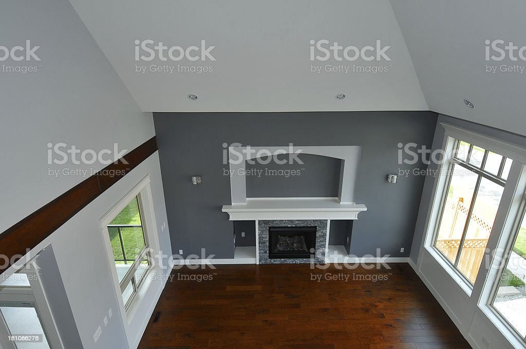 New Home Living Room royalty-free stock photo