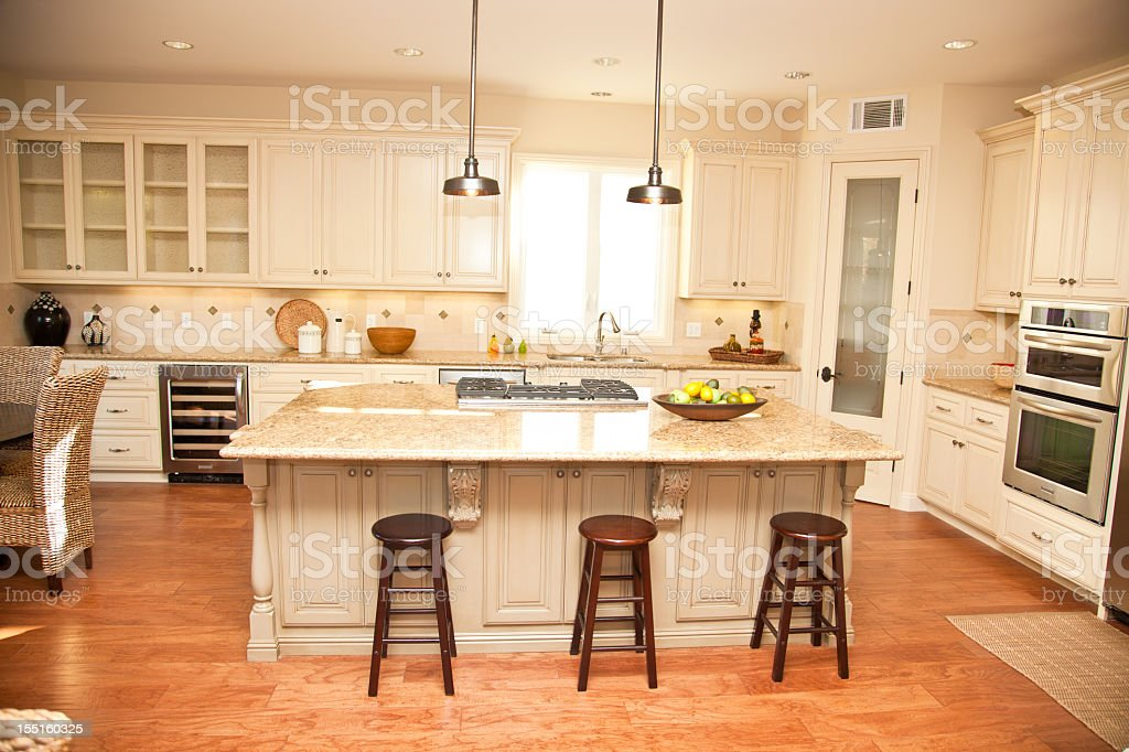 New Home Luxury Kitchen Interior royalty-free stock photo