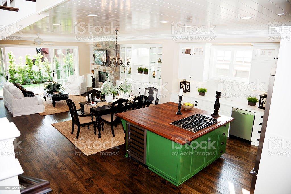 New Home Luxury Kitchen royalty-free stock photo