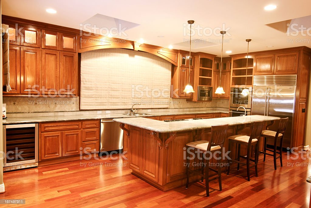 New Home Luxury Kitchen royalty-free stock photo