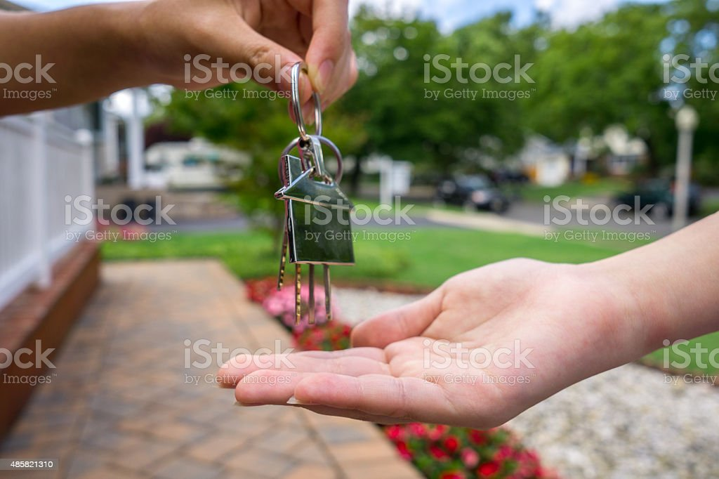 new home ower stock photo