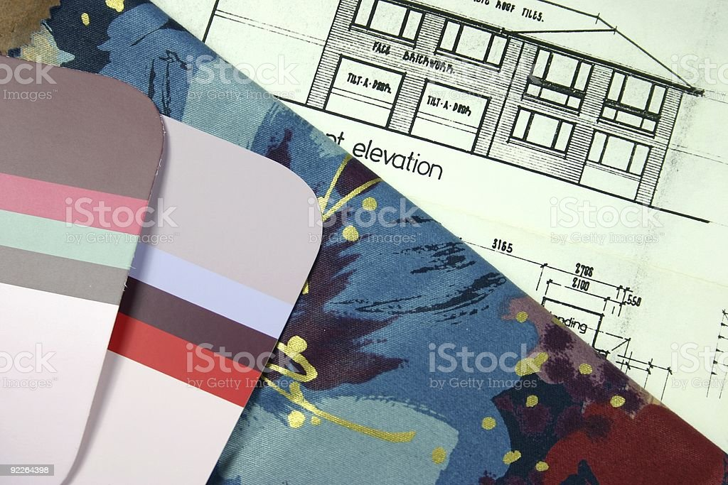 New Home Planning royalty-free stock photo