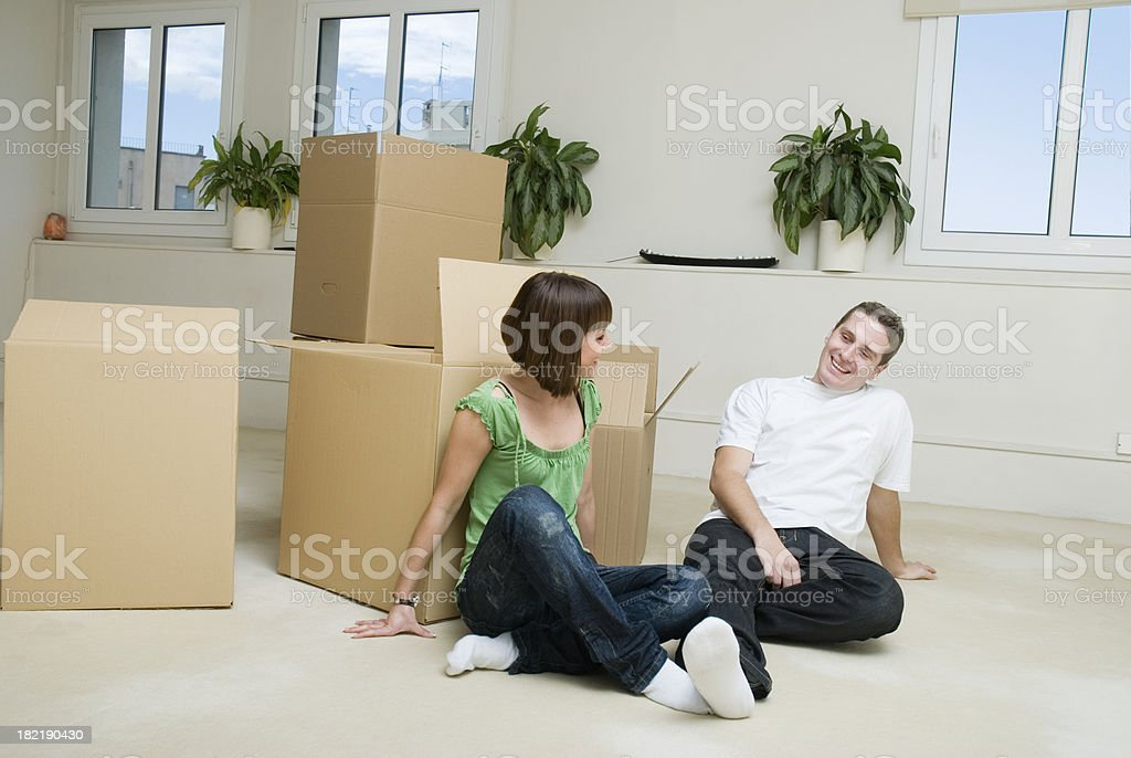 New home, relocation royalty-free stock photo