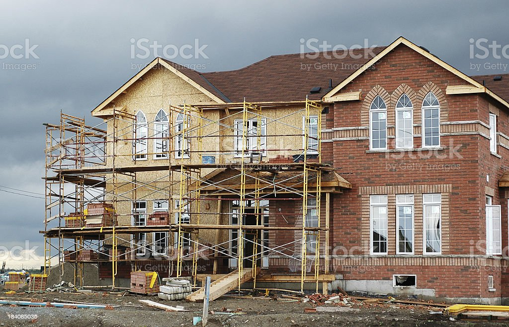 New Home Starts royalty-free stock photo
