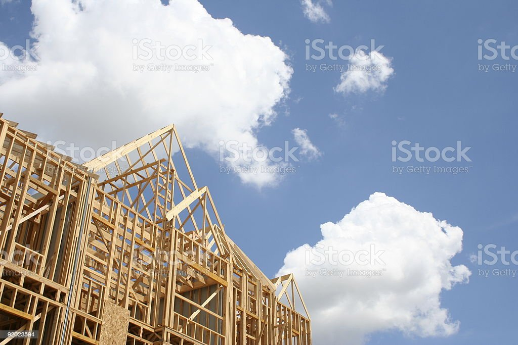 New Home under Construction royalty-free stock photo