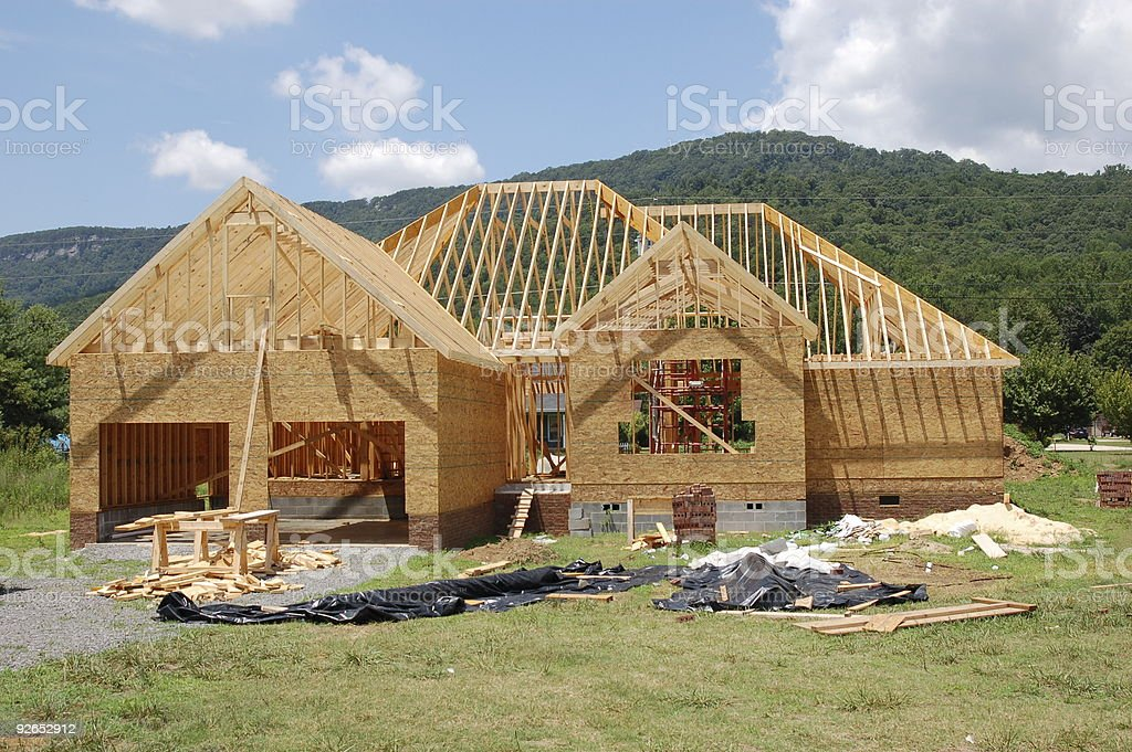 Nouvelle maison en construction photo libre de droits