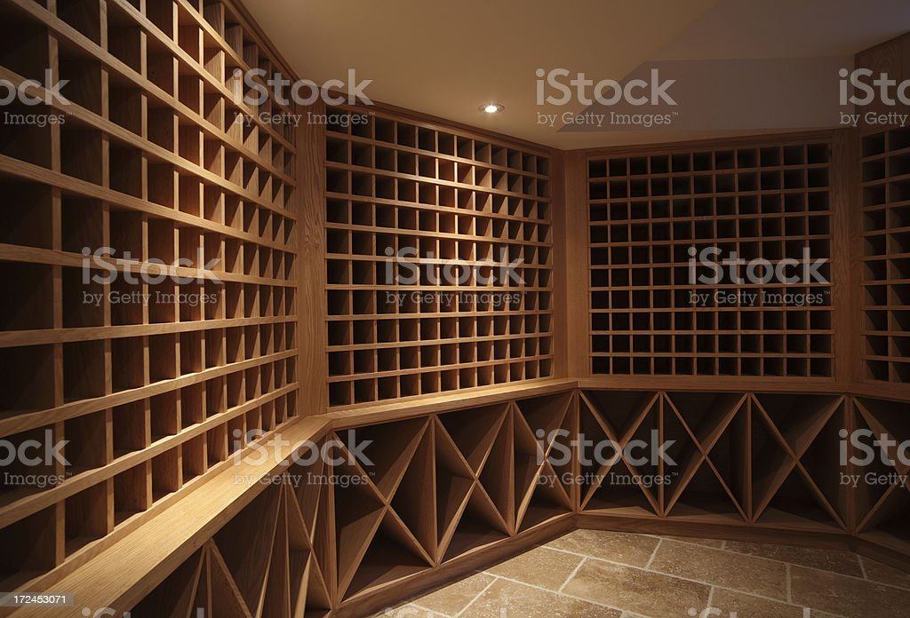 New Home wine cellar royalty-free stock photo