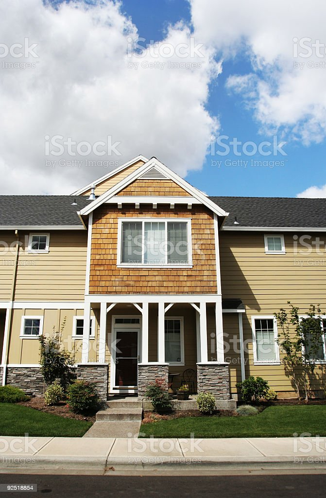New Home with Green Landscape royalty-free stock photo