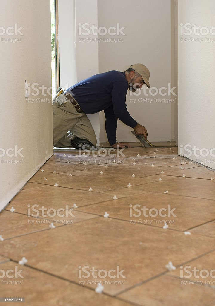 new home--flooring royalty-free stock photo