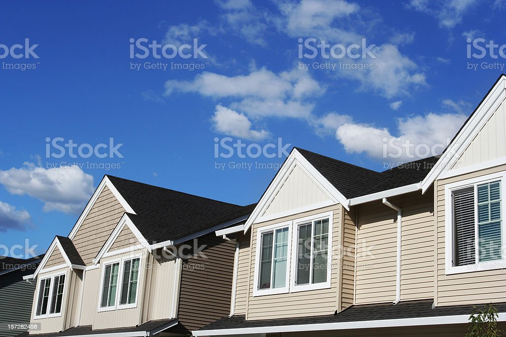 New Homes and Blue Sky stock photo