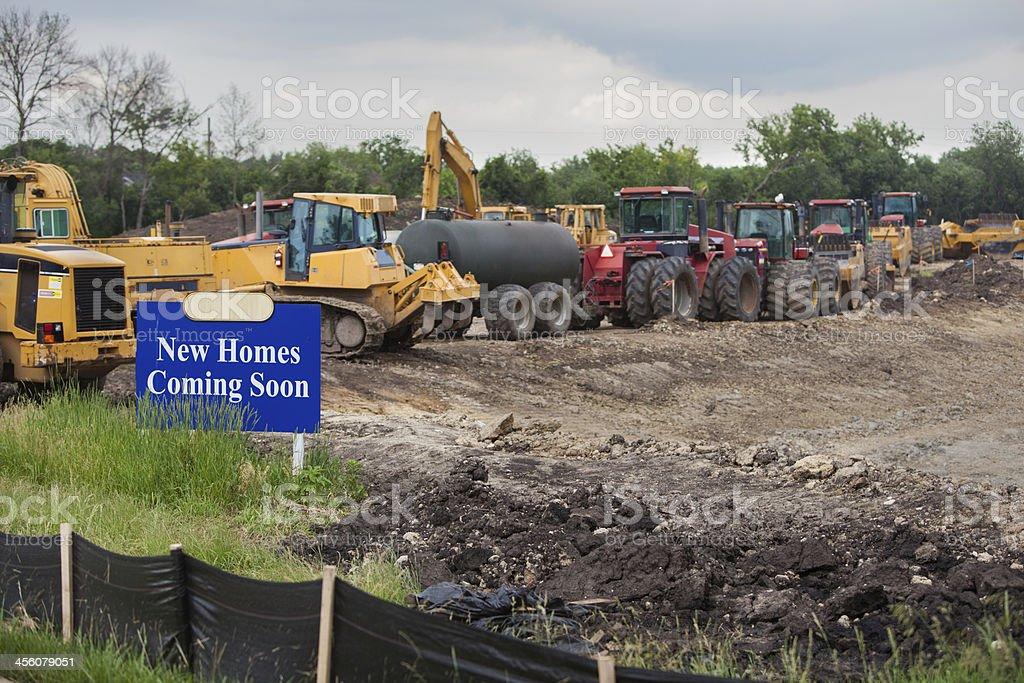 new homes coming soon horz ii stock photo