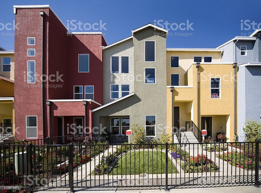New Homes Frontal Gated California royalty-free stock photo