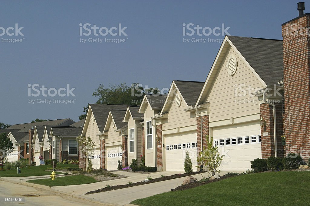 New Homes, Garage, Apartment royalty-free stock photo