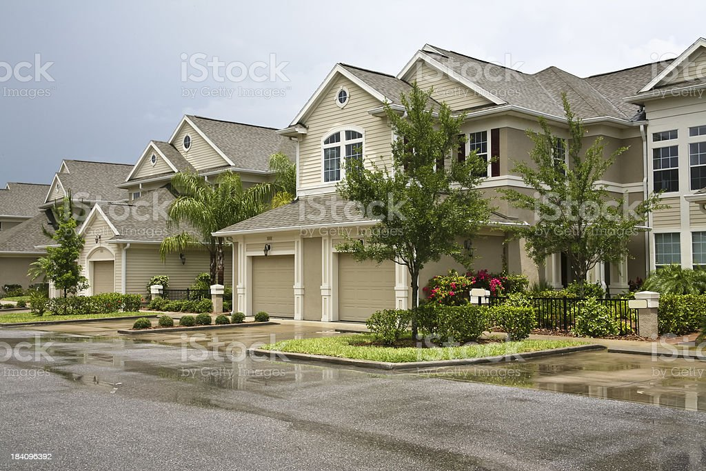 New Homes in the Neighborhood stock photo