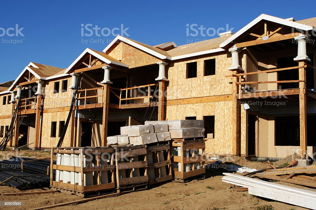 New Homes Under Construction stock photo