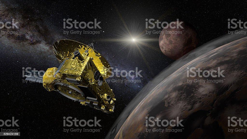 New Horizons space probe - Pluto flyby stock photo