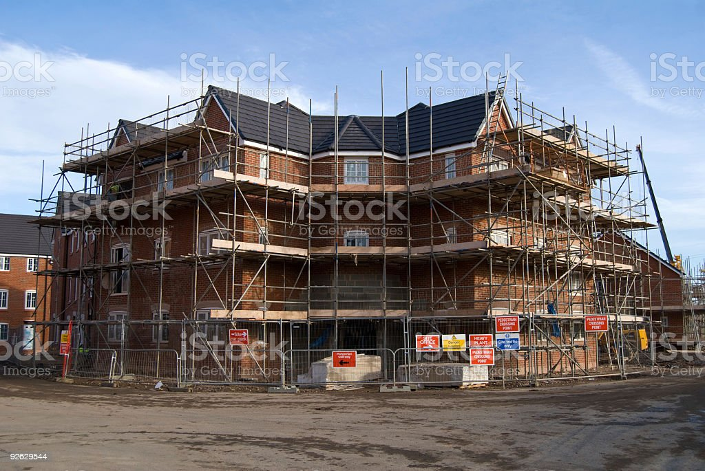 New House Being Built royalty-free stock photo