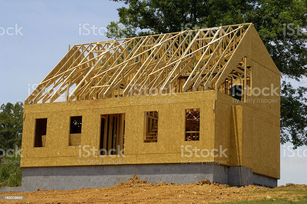 New house being constructed. royalty-free stock photo
