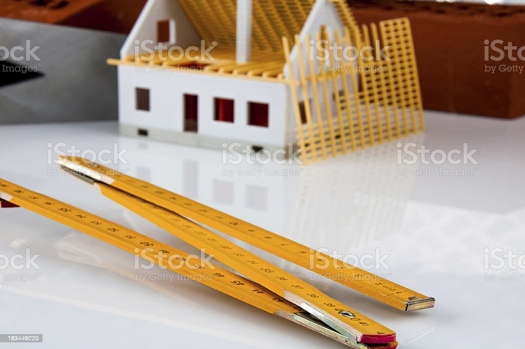 New house, building, construction site royalty-free stock photo