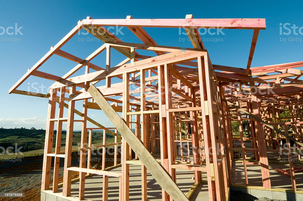 New House Building in the Country stock photo