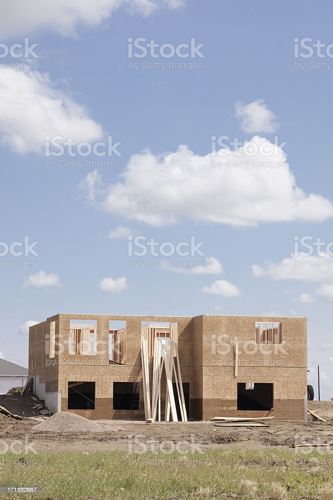 New House Construction in Saskatoon royalty-free stock photo