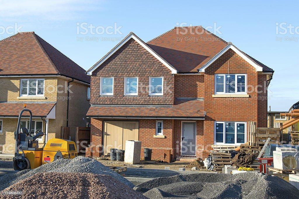 New house construction royalty-free stock photo