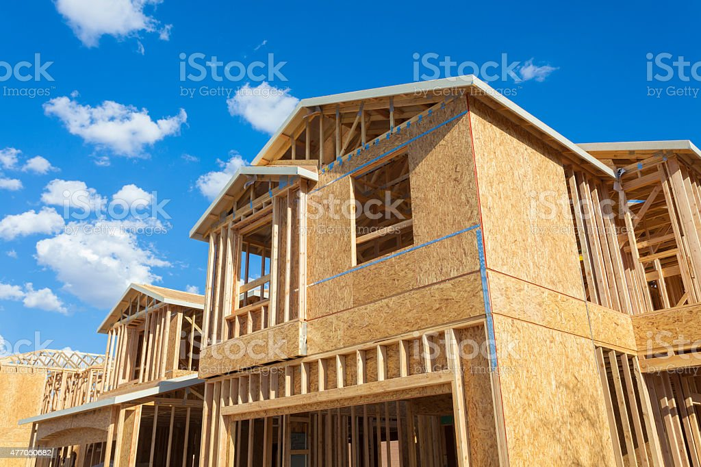 New house construction stock photo