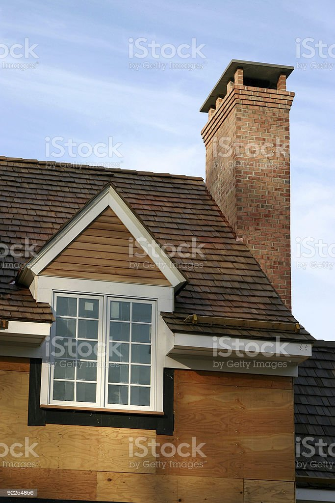 New house construction royalty-free stock photo