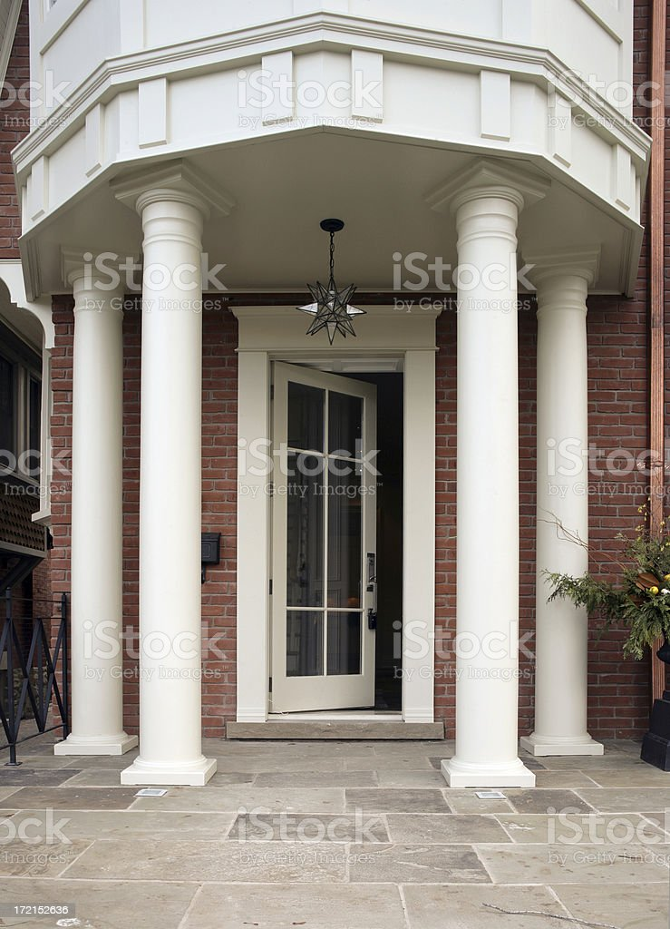 New House entrance royalty-free stock photo