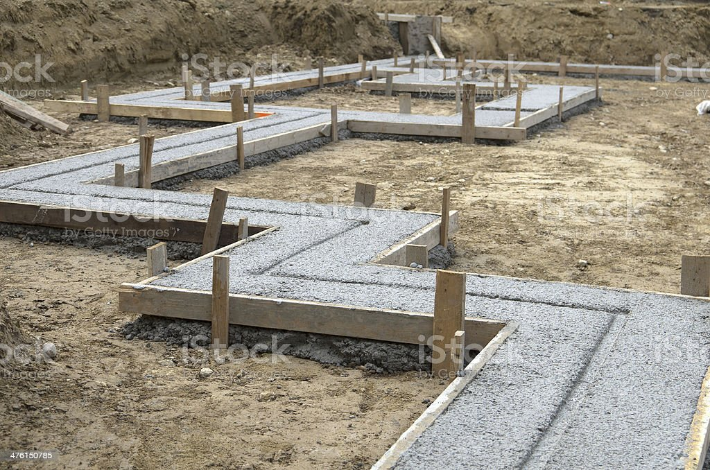 New House Footings royalty-free stock photo