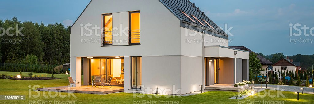 New house ideal for family stock photo