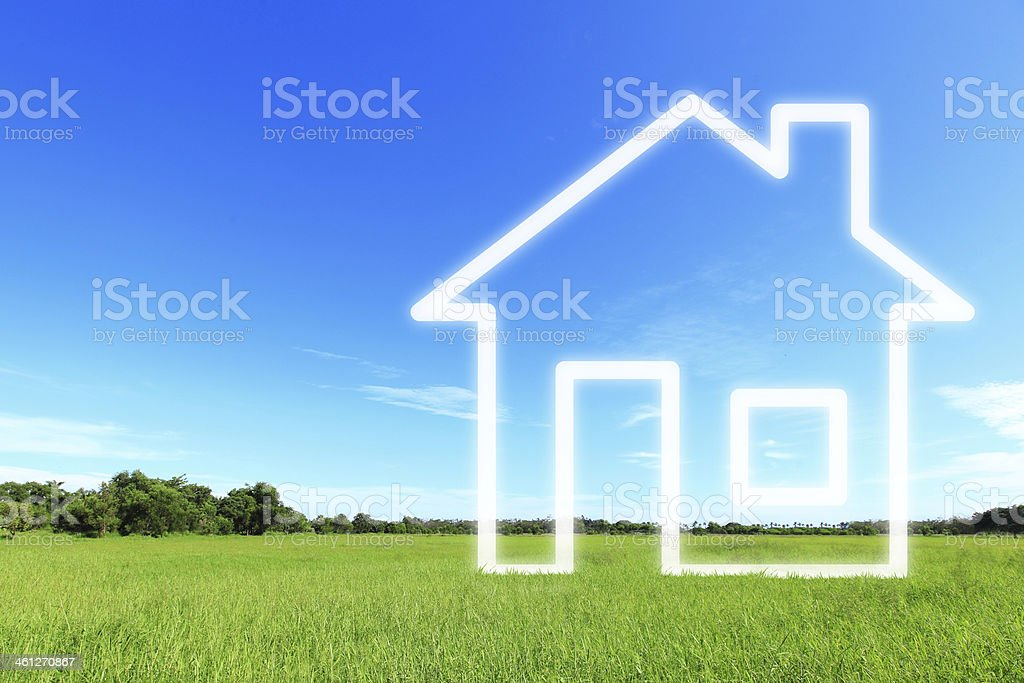 New house imagination vision royalty-free stock photo