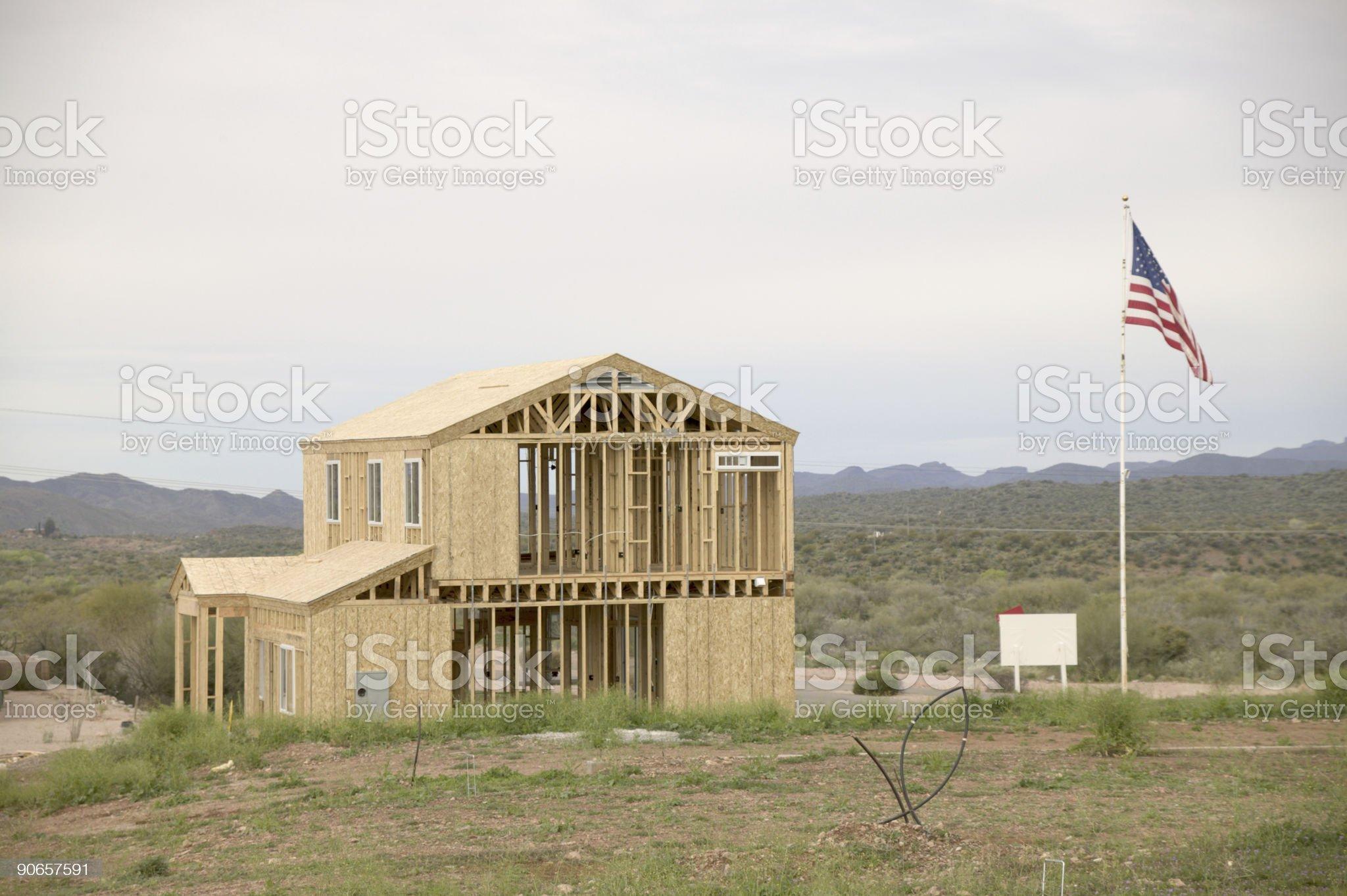 New house in desert royalty-free stock photo