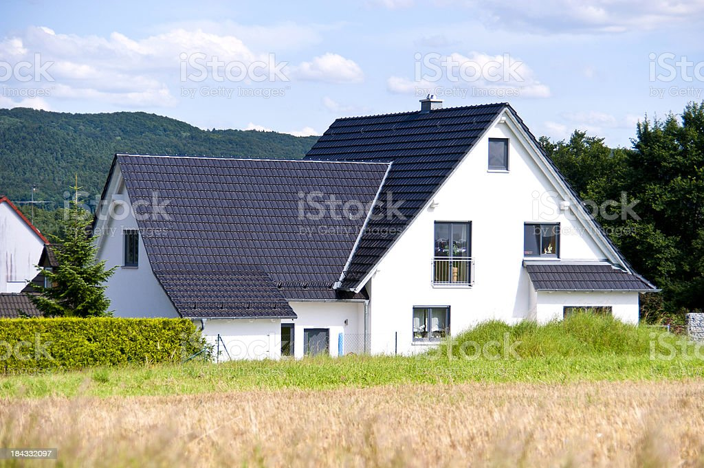 new house in germany rural place royalty-free stock photo